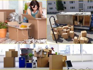 Sử dụng thùng carton để đóng gói đồ đạc.