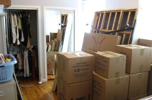 Đồ đạc sắp xếp gọn gàng để vận chuyển