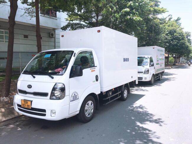 Cho thuê xe tải vận chuyển hàng giá rẻ