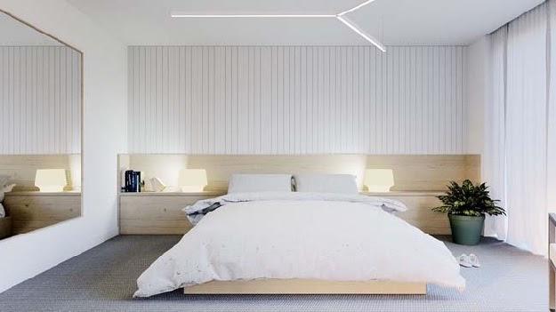 Mẫu thiết kế nội thất trong phòng ngủ theo phong cách tối giản